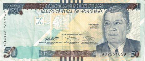 В Гондурасе выпустили в обращение обновленную банкноту