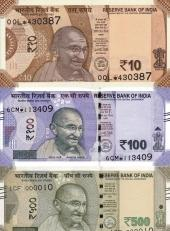 В Индии в наличном обращении появились обновленные банкноты