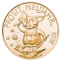 Австрия выпустила монеты с изображением поросенка