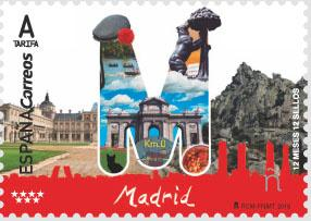 Испания выпустила марки в честь своей столицы