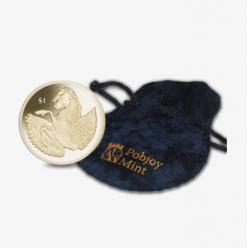 Pobjoy Mint представил монету, на которой изображена мифическая крылатая лошадь Пегас