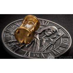 Во Франции отчеканили монету, на которой изображена Смерть в виде скелета с косой