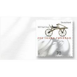 Германия посвятила почтовую марку изобретению велосипеда