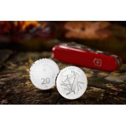 В Швейцарии отчеканили монету в честь армейского ножа