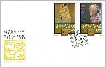 Лихтенштейн почтил память Густава Климта выпуском новых марок