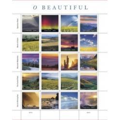 Почтовая служба США запечатлела красоту пейзажей страны на новых марках