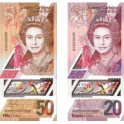 На Восточных Карибах в наличном обращении появятся полимерные денежные знаки