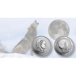 Канада выпустила коллекционную монету с изображением воющего волка
