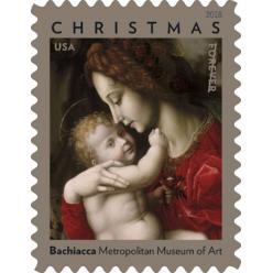 Почтовая служба США представила марку «Мадонна с младенцем»
