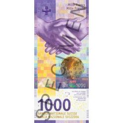 В Швейцарии представлена новая банкнота номиналом 1 000 франков
