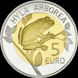 Монета «Европейская лесная лягушка» выпущена в обращение