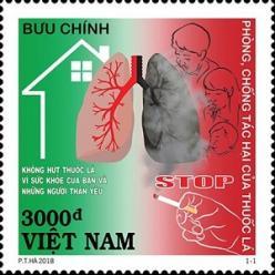 Вьетнам выпустил марку, посвященную борьбе с курением