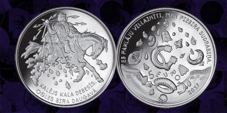 Монета на фольклорную тематику появилась в Латвии