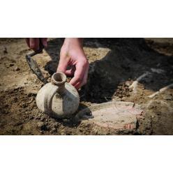 Небольшой курган был случайно обнаружен под Харьковом