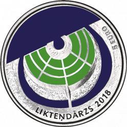 В Латвии представлена монета в честь Сада Судеб