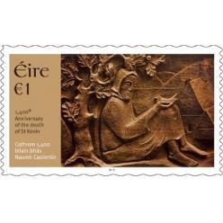 В Ирландии выпущена марка, посвященная небесному покровителю Дублина Св.Кевину