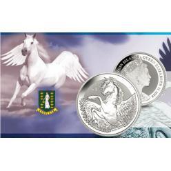 В Британии выпущена серебряная монета с изображением мифического коня Пегаса
