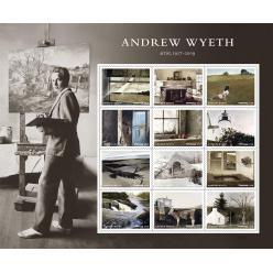 В США выпустят почтовые марки в честь художника Эндрю Уайета