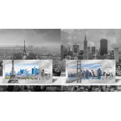 Компания Coin Invest Trust выпустила серебряные банкноты с изображением достопримечательностей Парижа и Сан-Франциско