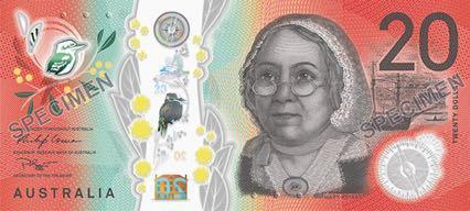 В Австралии представили банкноту номиналом 20 долларов из новой серии