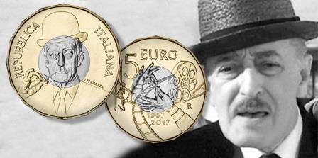 На памятной монете, выпущенной в Италии, изображен комик Тото