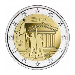 В Бельгии выпущена 2-евровая монета в честь 50-летия студенческих восстаний