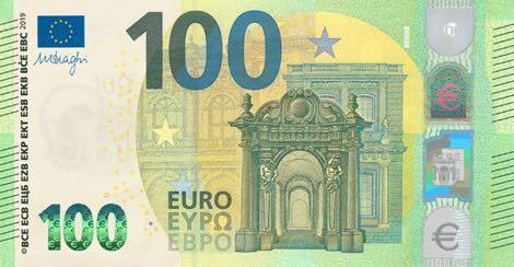 Европейский Центральный Банк представил новые банкноты номиналом 100 и 200 евро