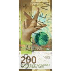В Швейцарии представлена новая банкнота 200 франков