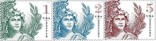 США запечатлили Статую Свободы на новых марках
