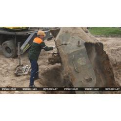 В Гродно под землей нашли артефакты времен войны