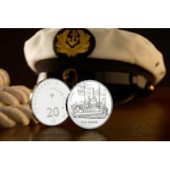 Монета с изображением легендарного парохода выпущена в Швейцарии