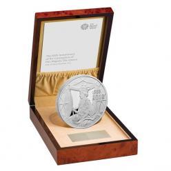 Монета в честь юбилея коронации Елизаветы II отчеканена в Великобритании