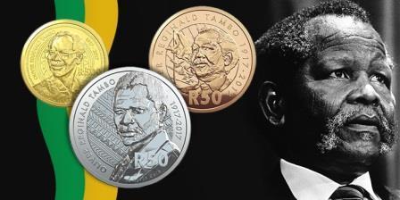 В Южной Африке появится монета к юбилею Оливера Тамбо
