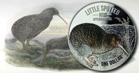 Монета, на которой изображена птица киви, появилась в Новой Зеландии