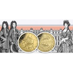 Во Франции выпущена золотая монета из серии «История монет»