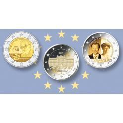 Представлены дизайны памятных монет 2 евро Люксембурга, Бельгии и Германии