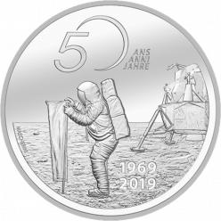 В Швейцарии появится монета, посвященная 50-летию первой высадки человека на Луну