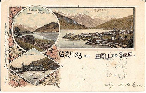 Gruss aus Zell am See, Austria, 1906 рік