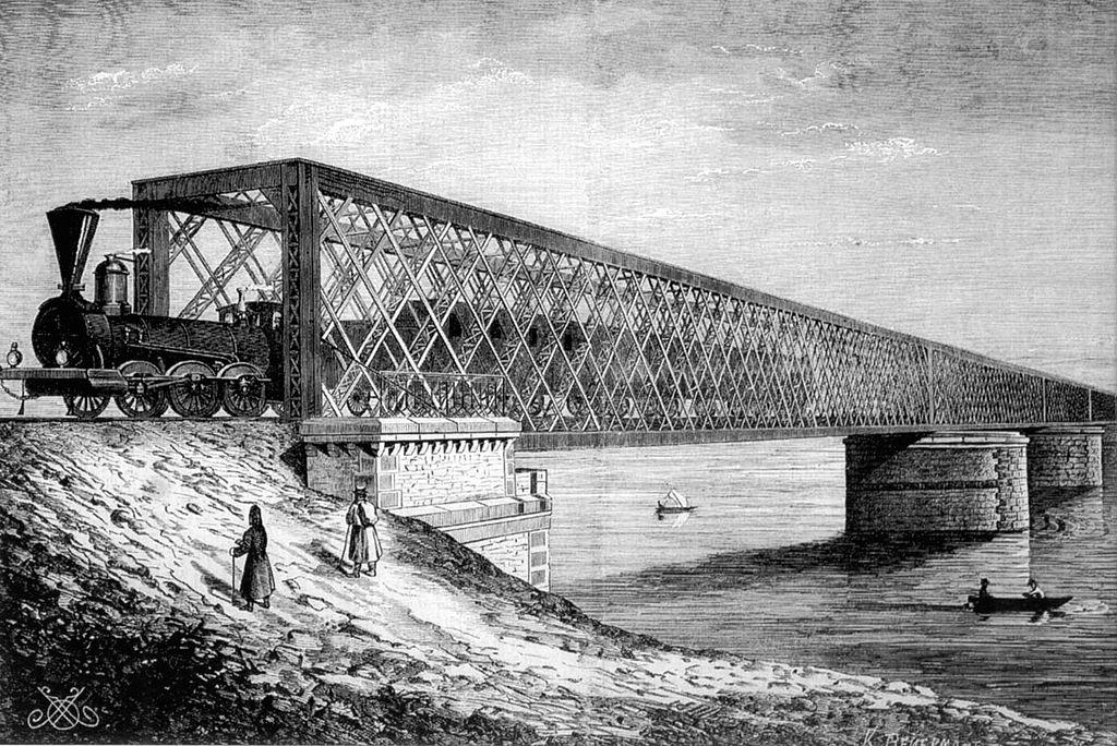 Мост Струве. Первый мост через Днепр