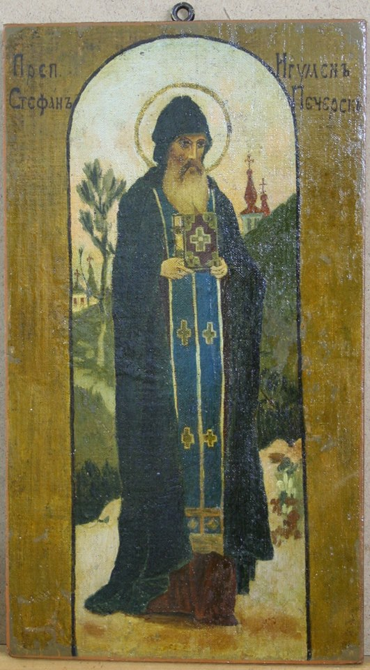 Меценат Валерій Амелін жертвує ікону з зображенням преподобного Стефана задля виготовлення медалей