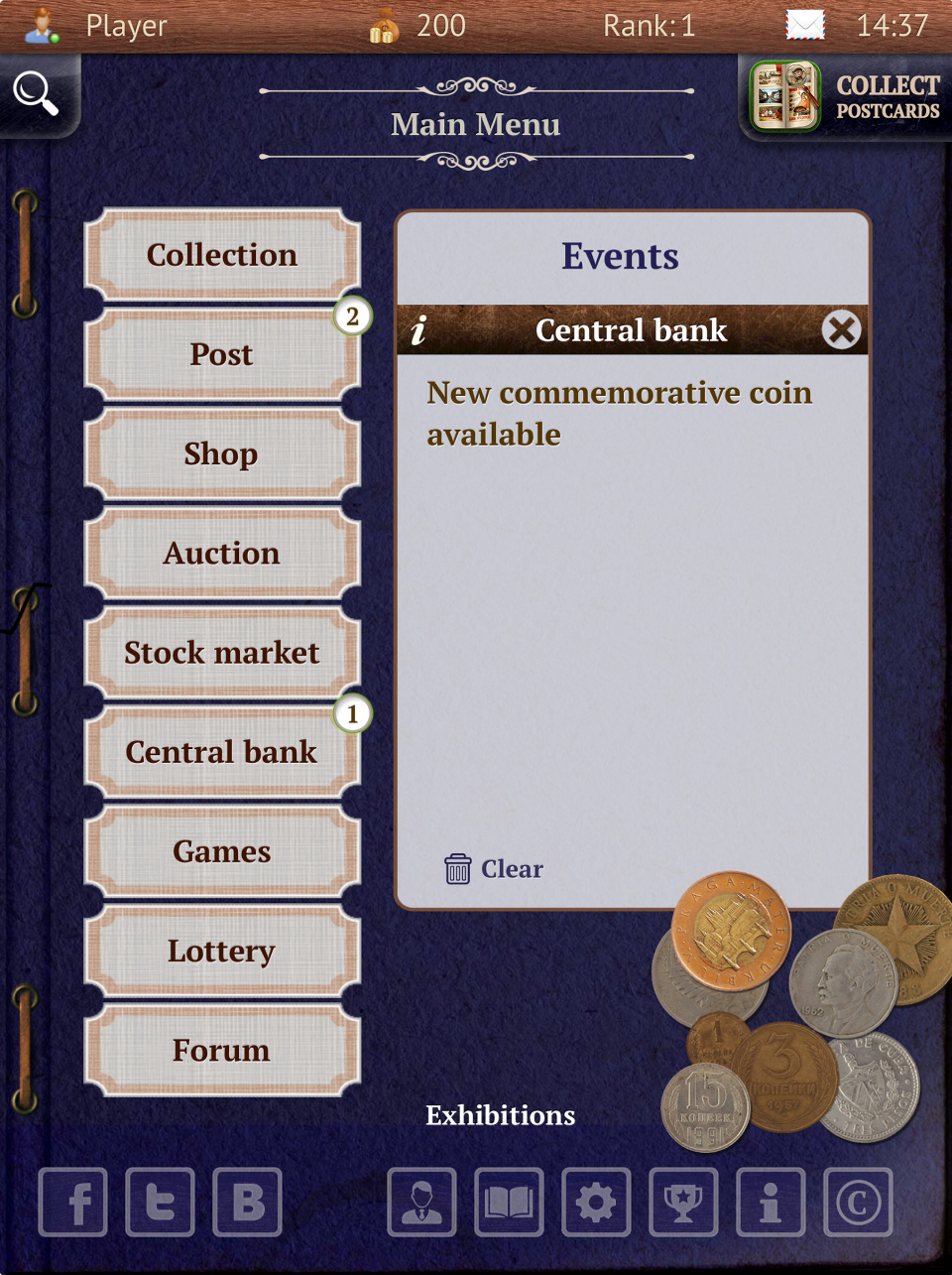 В одном приложении можно и хранить коллекцию, и торговаться на аукционах, и общаться с коллекционерами