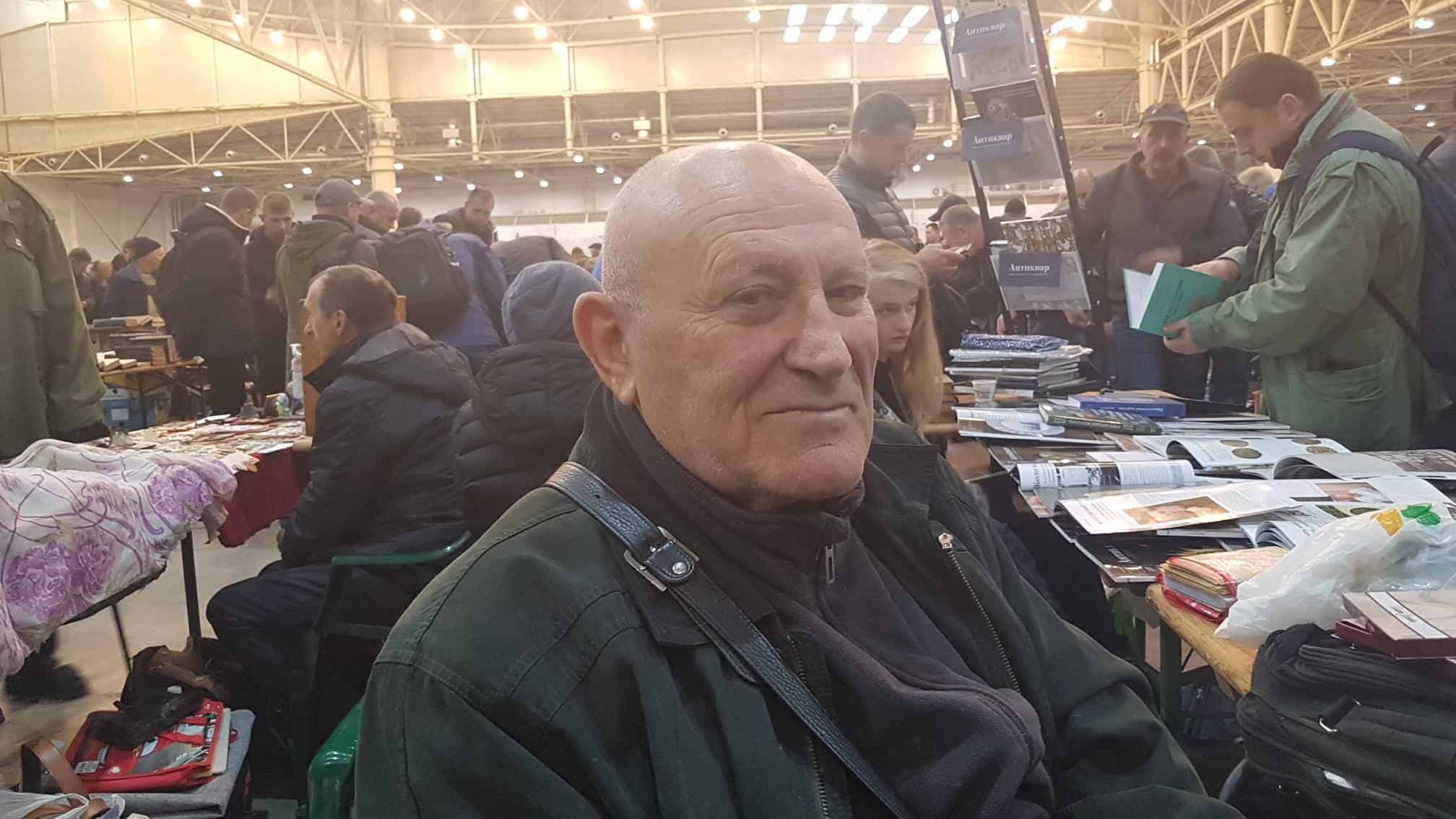 Гарсеван Небиеридзе на слёте коллекционеров