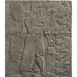 Артефакт нашел британский археолог Остин Генри Лейард в 1845 году вблизи руин Северо-Западного дворца в древнем городе Нимруд (ныне - Ирак).