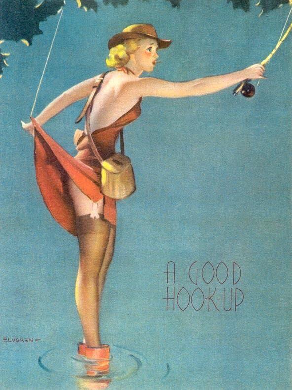 Открытка, посвященная женской рыбной ловле