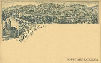 Листівка: Gruss aus St. Gallen — 1897
