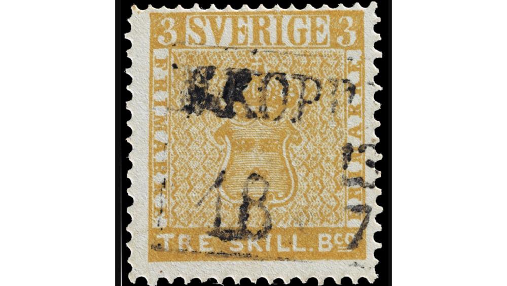 «Жёлтый трёхскиллинговик», 1855 год