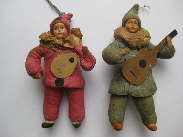 новогодние ватные игрушки