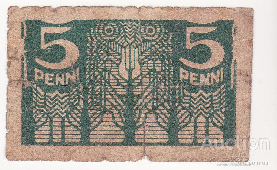 «5 пенни» Эстонии 1919 года